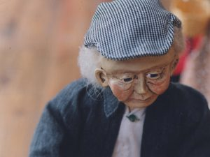 Fantasy Folk Artist Doll of old man by healing arts artist Corina Duyn