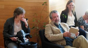 Writers Corina Duyn and Michael Harding, videos of book launch of Into the Light